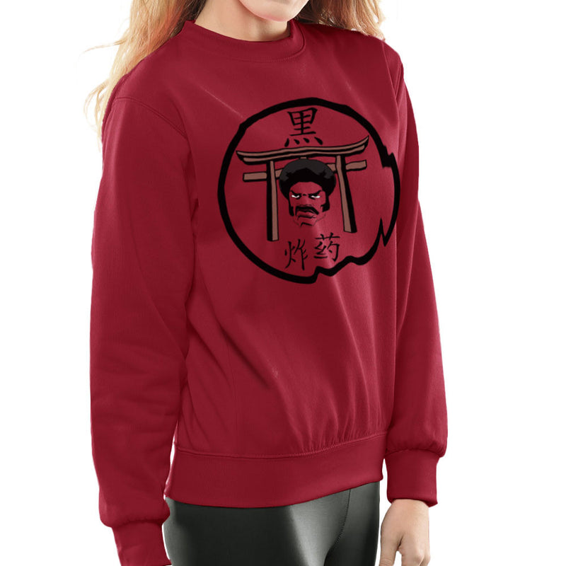 Black Dynamite Logo Women's Sweatshirt Women's Sweatshirt Cloud City 7 - 15