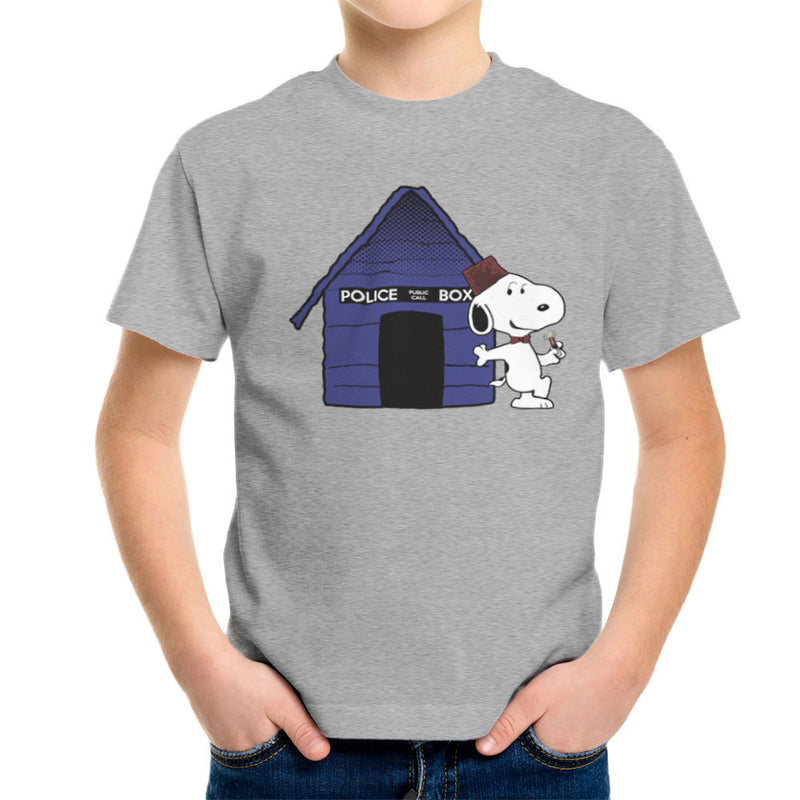 Dr Who Snoopy Tardis Kennel Kid's T-Shirt by Sillicus - Cloud City 7