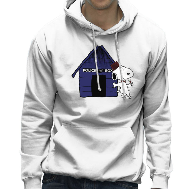 Dr Who Snoopy Tardis Kennel Men's Hooded Sweatshirt by Sillicus - Cloud City 7