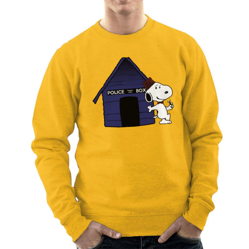 Dr Who Snoopy Tardis Kennel Men's Sweatshirt by Sillicus - Cloud City 7