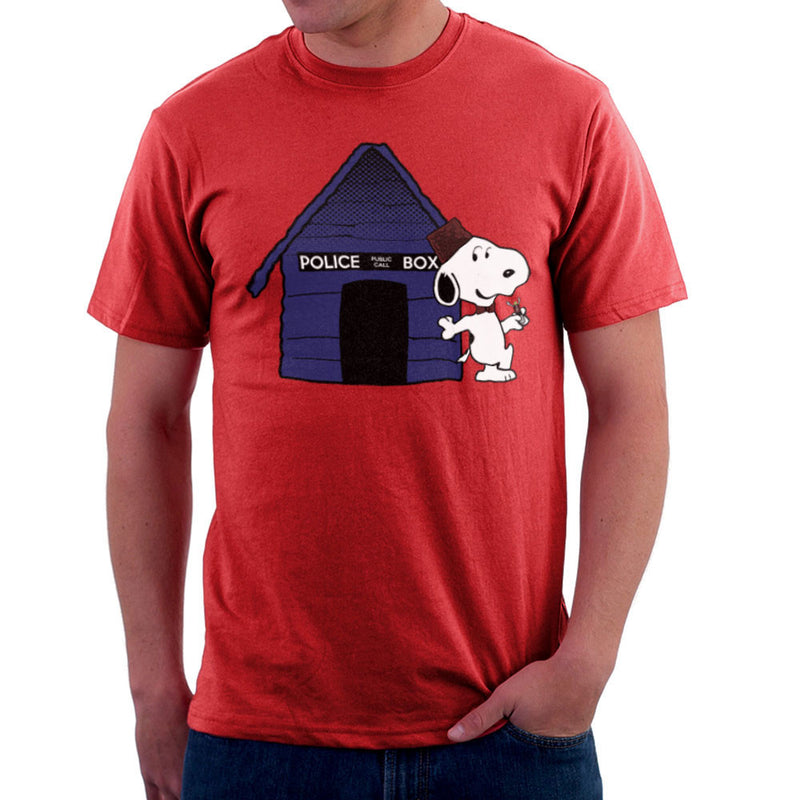Dr Who Snoopy Tardis Kennel Men's T-Shirt by Sillicus - Cloud City 7
