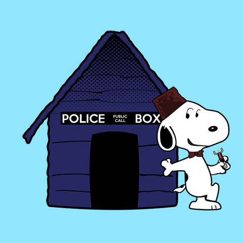 Dr Who Snoopy Tardis Kennel