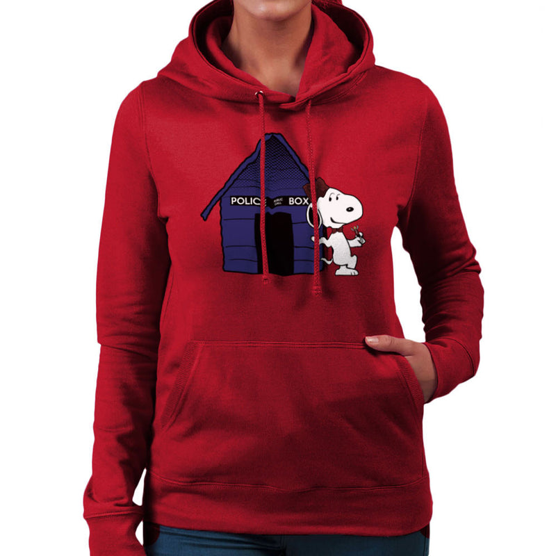 Dr Who Snoopy Tardis Kennel Women's Hooded Sweatshirt by Sillicus - Cloud City 7