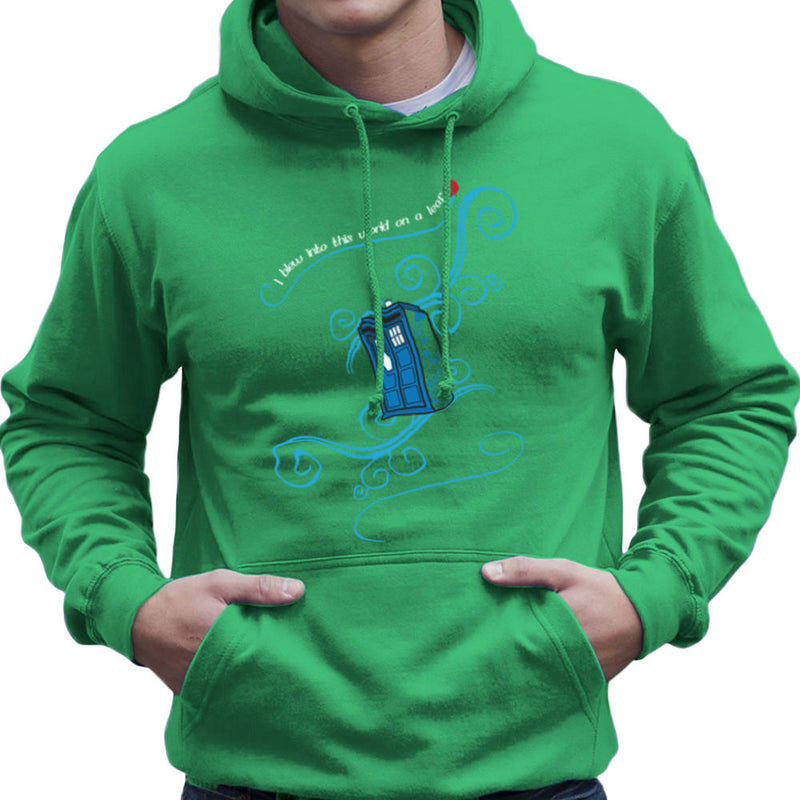 Dr Who Tardis I Blew Into This World On A Leaf Men's Hooded Sweatshirt Men's Hooded Sweatshirt Cloud City 7 - 14