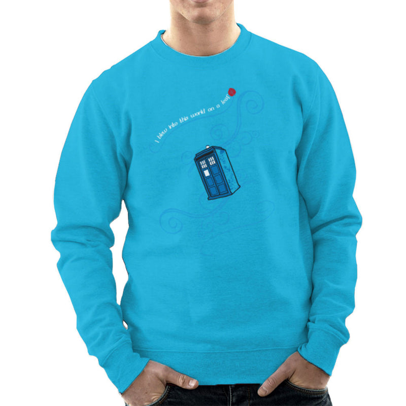 Dr Who Tardis I Blew Into This World On A Leaf Men's Sweatshirt by Sillicus - Cloud City 7