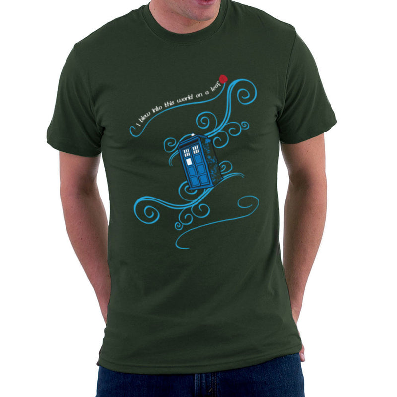 Dr Who Tardis I Blew Into This World On A Leaf Men's T-Shirt Men's T-Shirt Cloud City 7 - 13