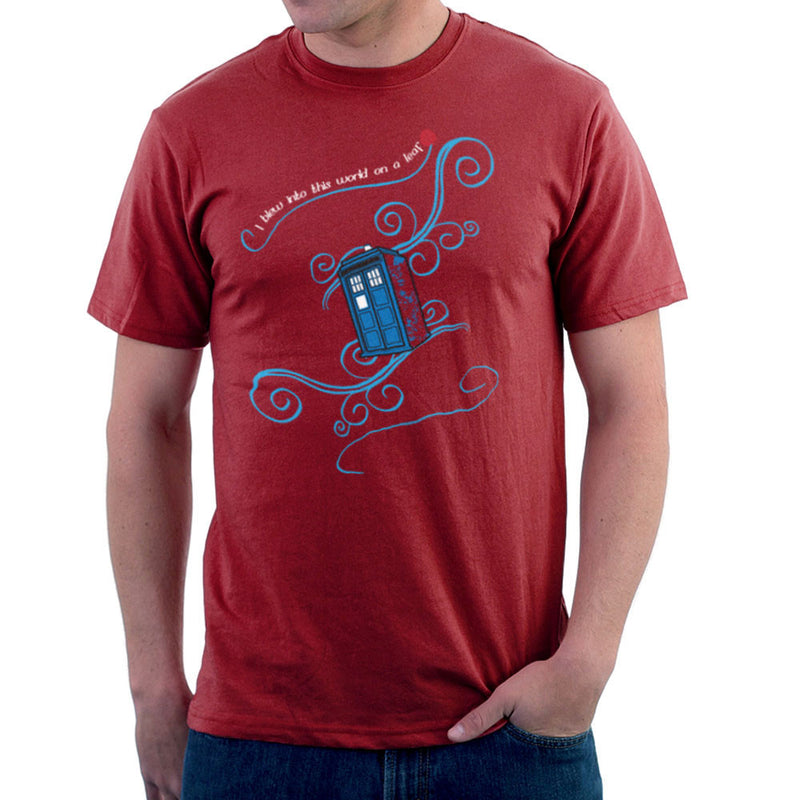 Dr Who Tardis I Blew Into This World On A Leaf Men's T-Shirt Men's T-Shirt Cloud City 7 - 15