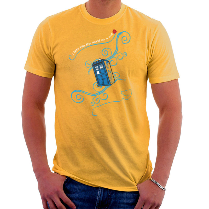 Dr Who Tardis I Blew Into This World On A Leaf Men's T-Shirt Men's T-Shirt Cloud City 7 - 18