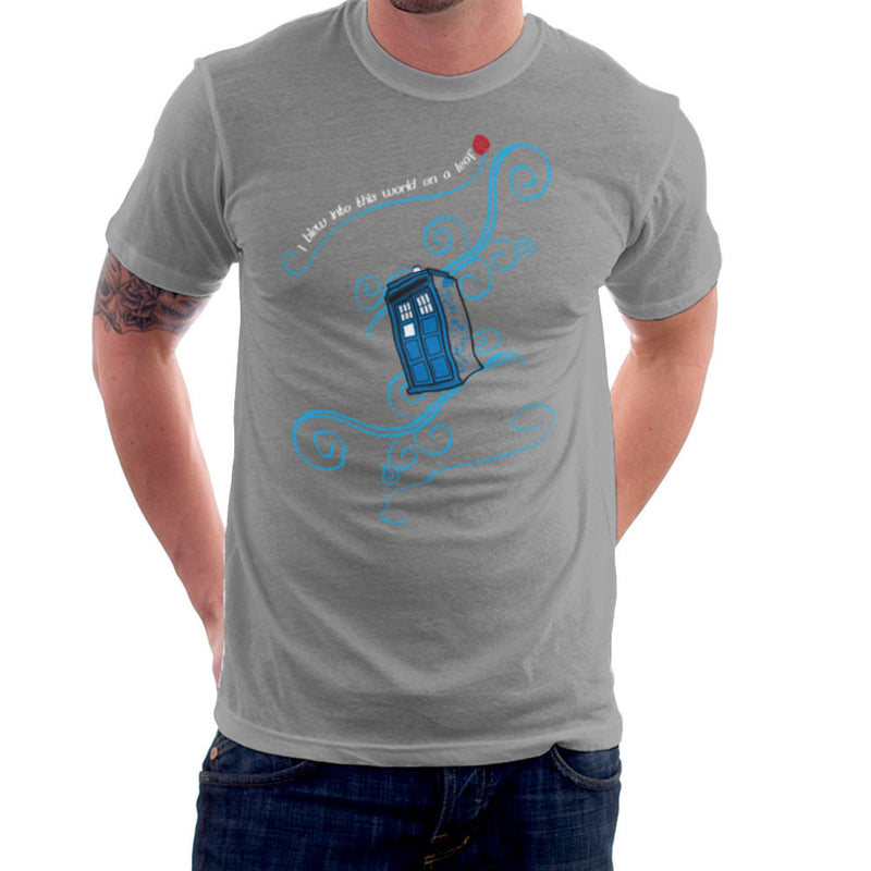 Dr Who Tardis I Blew Into This World On A Leaf Men's T-Shirt Men's T-Shirt Cloud City 7 - 5