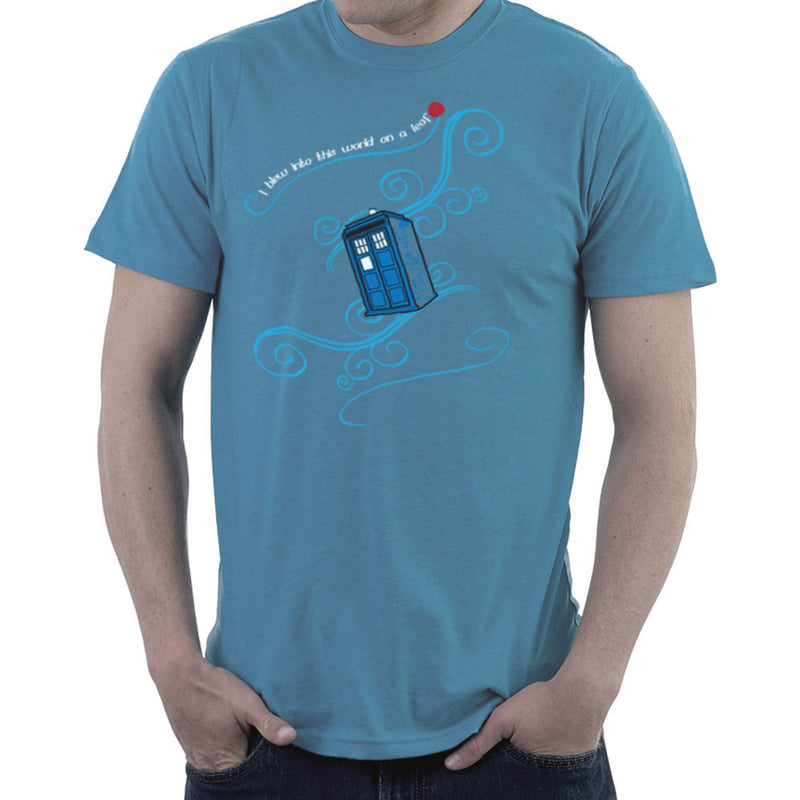 Dr Who Tardis I Blew Into This World On A Leaf Men's T-Shirt Men's T-Shirt Cloud City 7 - 9