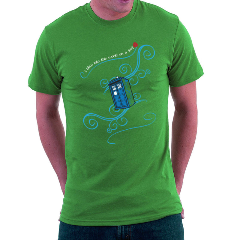 Dr Who Tardis I Blew Into This World On A Leaf Men's T-Shirt Men's T-Shirt Cloud City 7 - 14