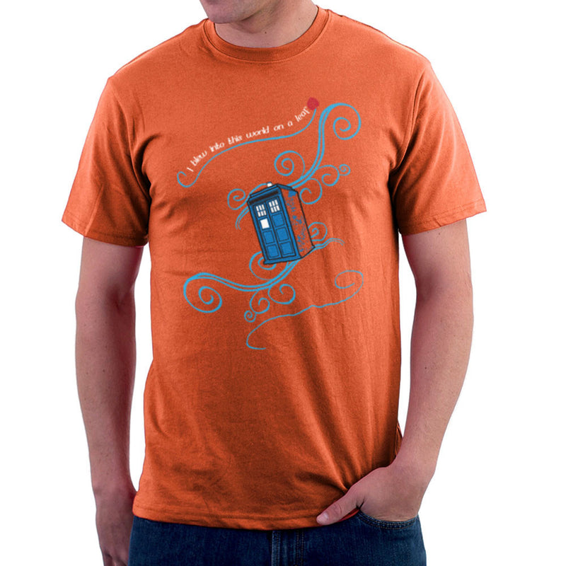 Dr Who Tardis I Blew Into This World On A Leaf Men's T-Shirt Men's T-Shirt Cloud City 7 - 17