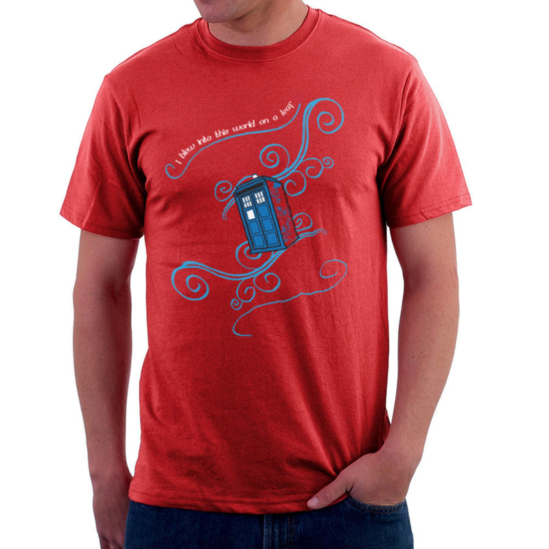 Dr Who Tardis I Blew Into This World On A Leaf Men's T-Shirt Men's T-Shirt Cloud City 7 - 16