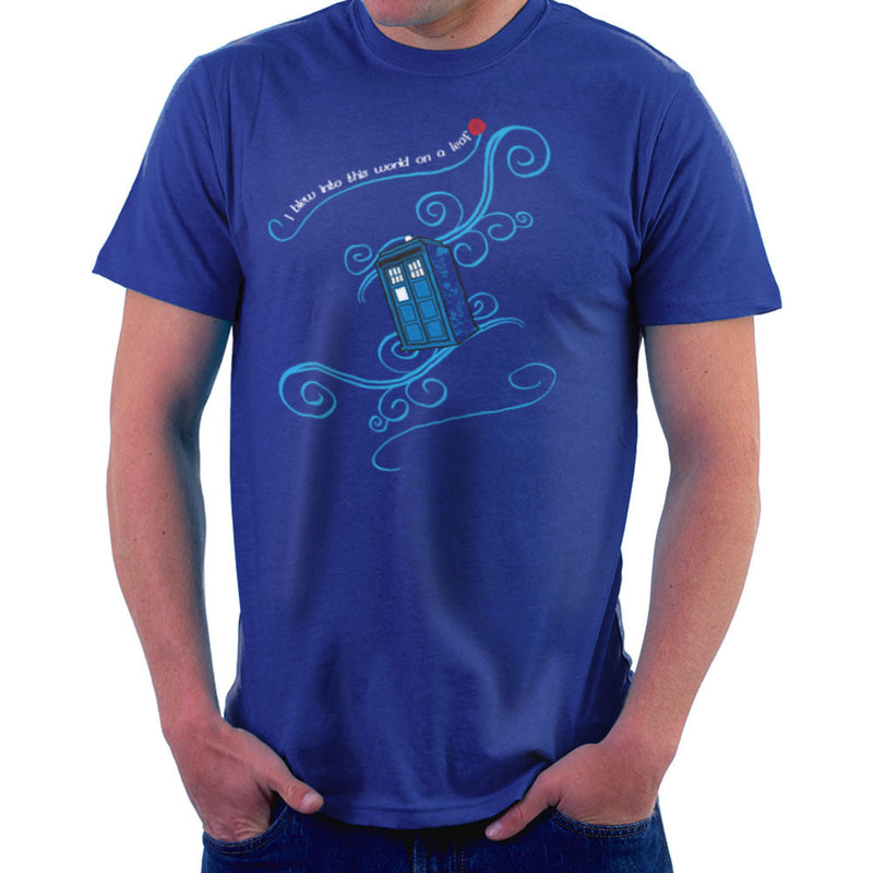 Dr Who Tardis I Blew Into This World On A Leaf Men's T-Shirt by Sillicus - Cloud City 7
