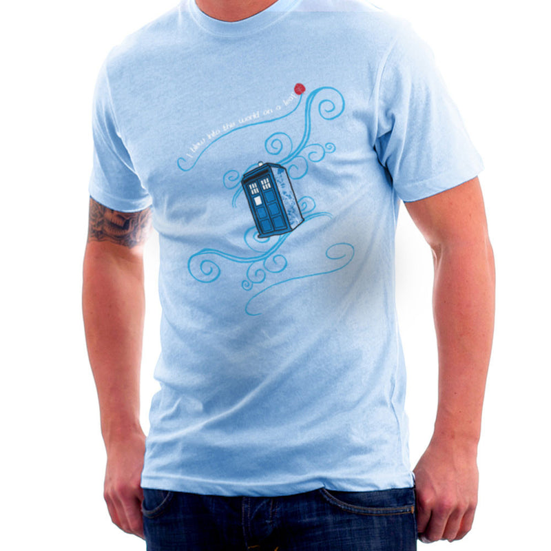 Dr Who Tardis I Blew Into This World On A Leaf Men's T-Shirt Men's T-Shirt Cloud City 7 - 11