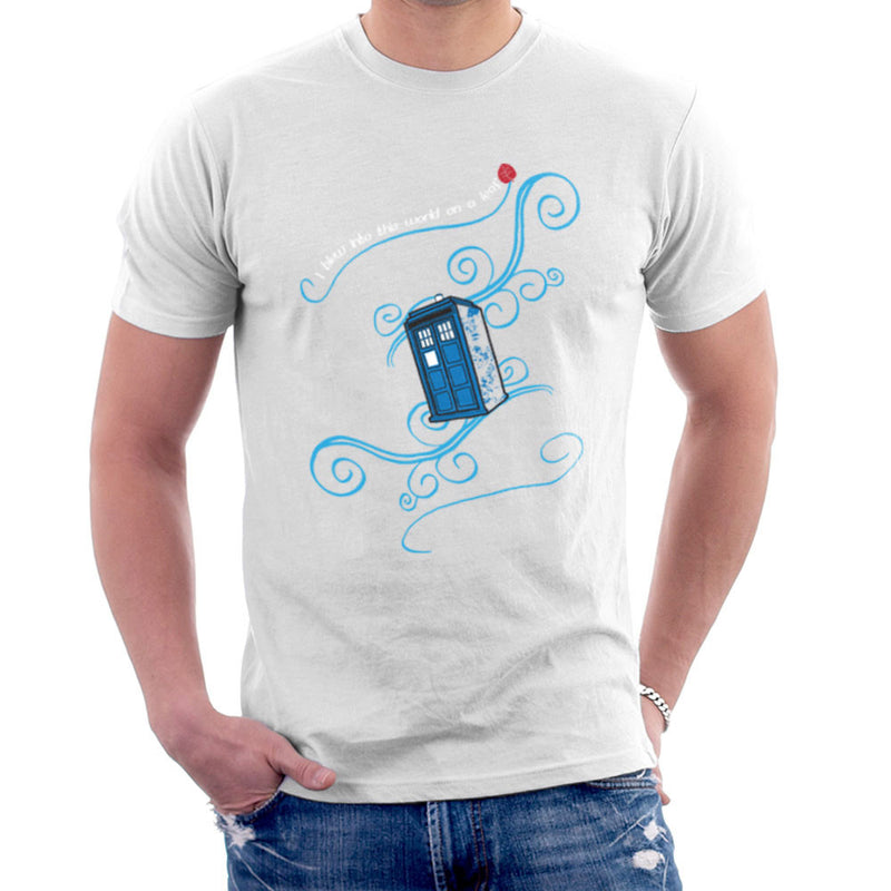 Dr Who Tardis I Blew Into This World On A Leaf Men's T-Shirt Men's T-Shirt Cloud City 7 - 6