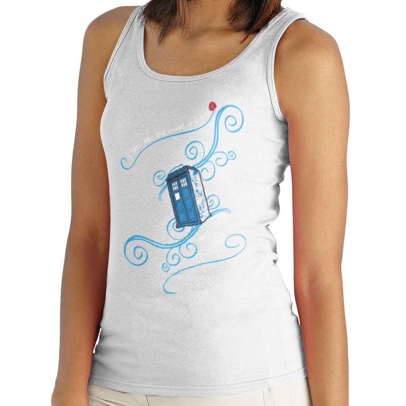 Dr Who Tardis I Blew Into This World On A Leaf Women's Vest by Sillicus - Cloud City 7