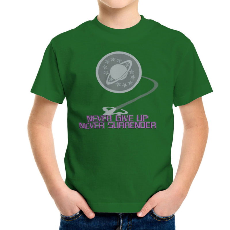 Galaxy Quest Never Give Up Never Surrender Kid's T-Shirt Kid's Boy's T-Shirt Cloud City 7 - 13