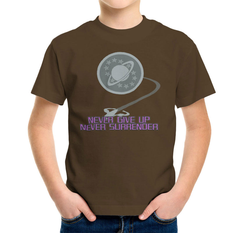 Galaxy Quest Never Give Up Never Surrender Kid's T-Shirt Kid's Boy's T-Shirt Cloud City 7 - 12