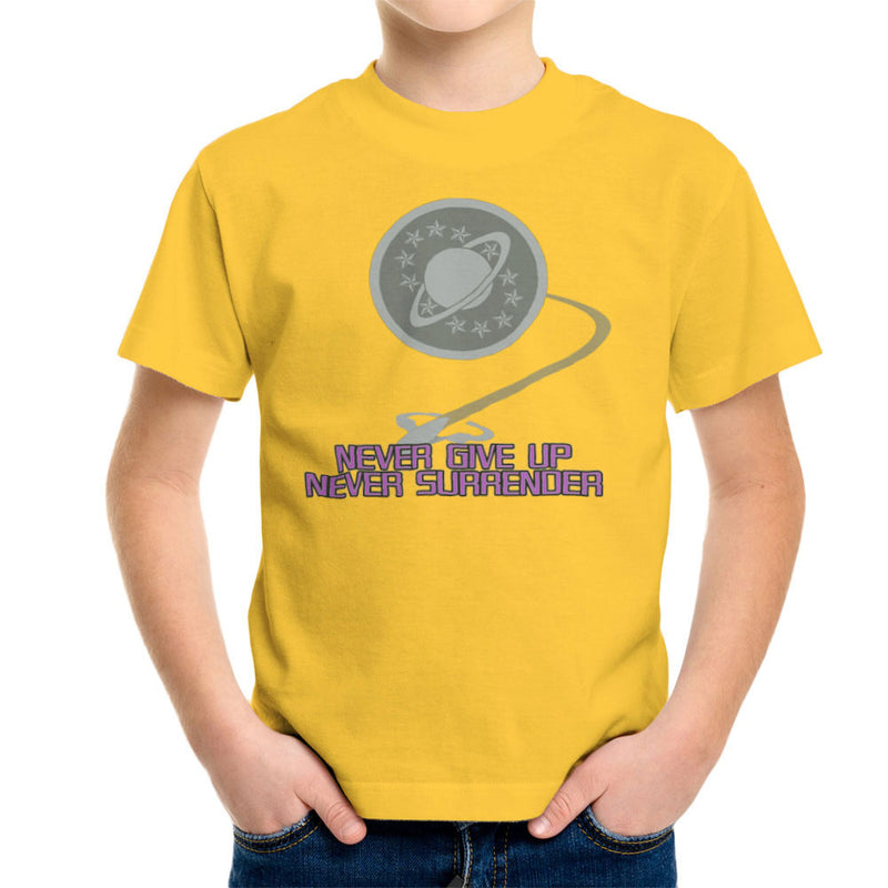 Galaxy Quest Never Give Up Never Surrender Kid's T-Shirt Kid's Boy's T-Shirt Cloud City 7 - 17