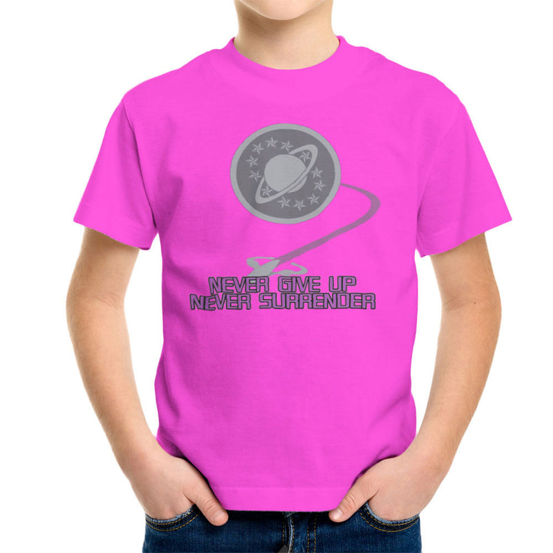 Galaxy Quest Never Give Up Never Surrender Kid's T-Shirt Kid's Boy's T-Shirt Cloud City 7 - 19
