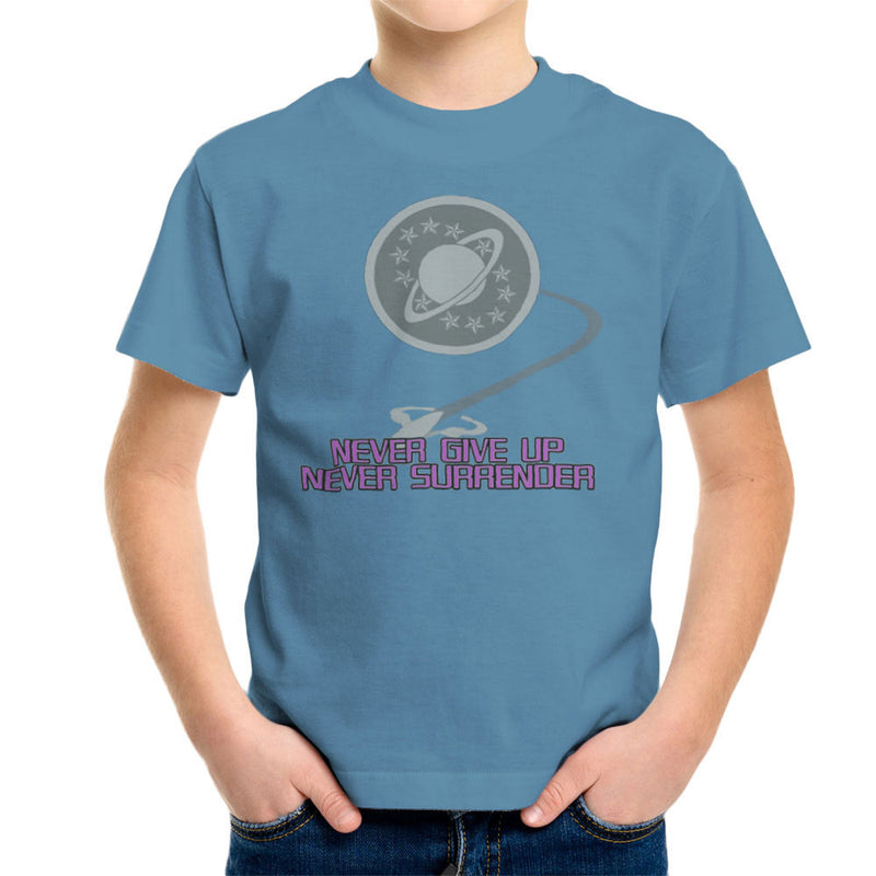 Galaxy Quest Never Give Up Never Surrender Kid's T-Shirt Kid's Boy's T-Shirt Cloud City 7 - 9