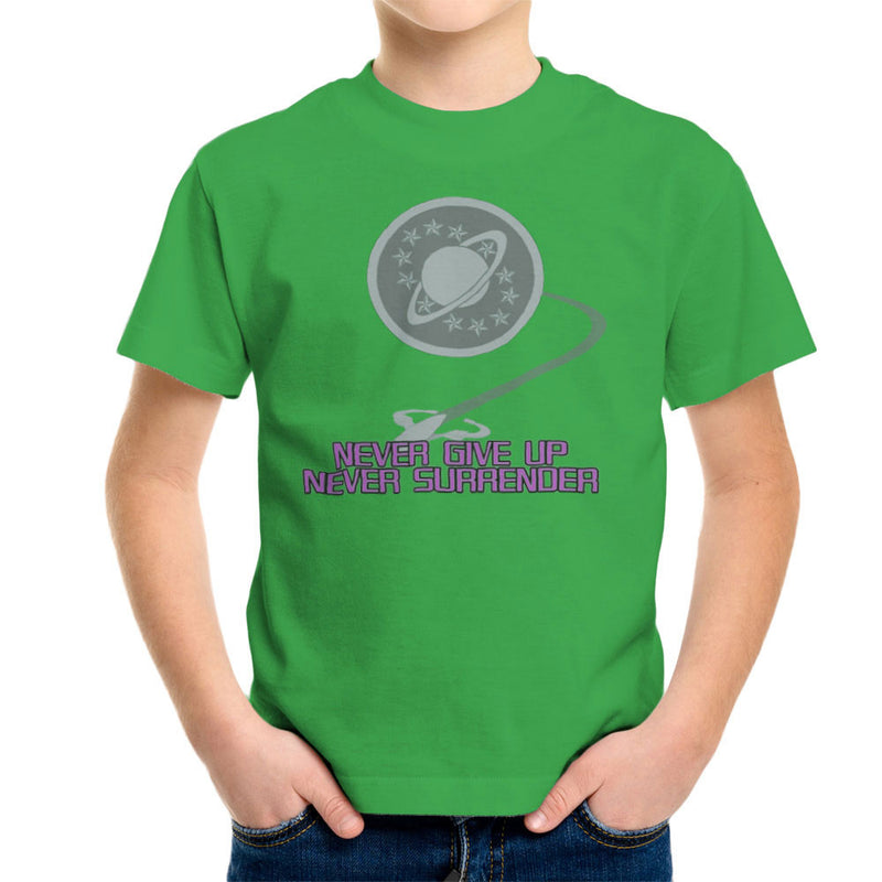 Galaxy Quest Never Give Up Never Surrender Kid's T-Shirt Kid's Boy's T-Shirt Cloud City 7 - 14