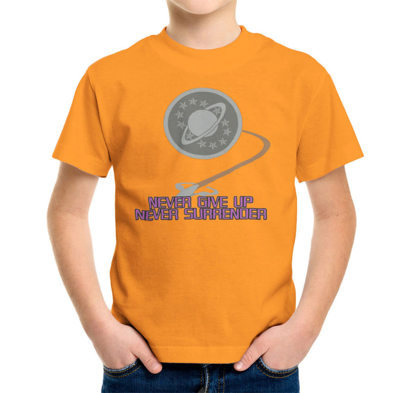 Galaxy Quest Never Give Up Never Surrender Kid's T-Shirt Kid's Boy's T-Shirt Cloud City 7 - 16