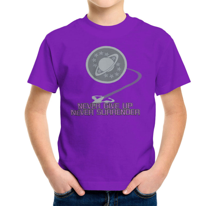 Galaxy Quest Never Give Up Never Surrender Kid's T-Shirt Kid's Boy's T-Shirt Cloud City 7 - 18