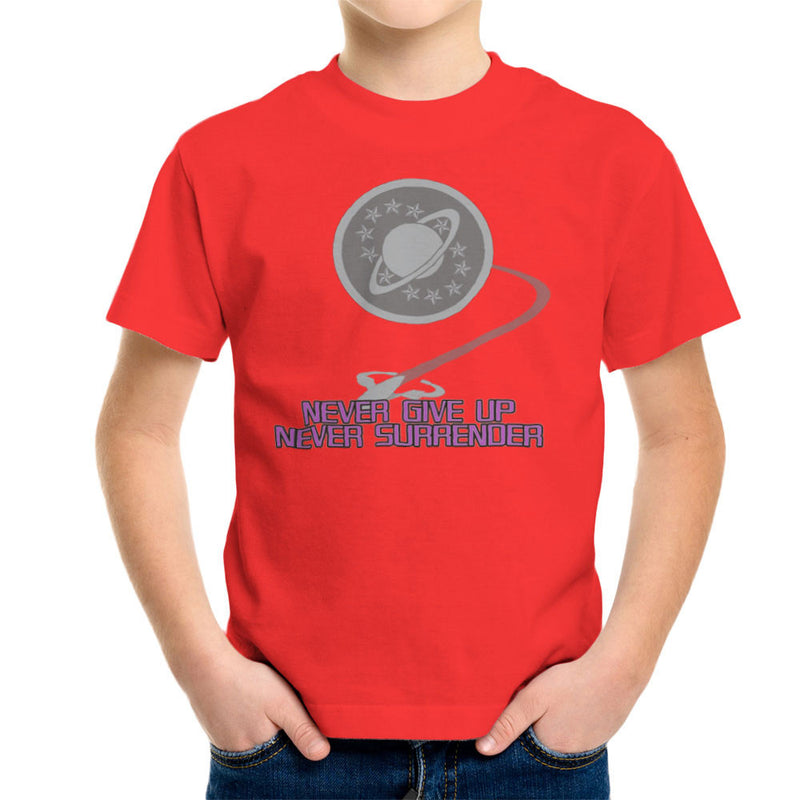 Galaxy Quest Never Give Up Never Surrender Kid's T-Shirt Kid's Boy's T-Shirt Cloud City 7 - 15