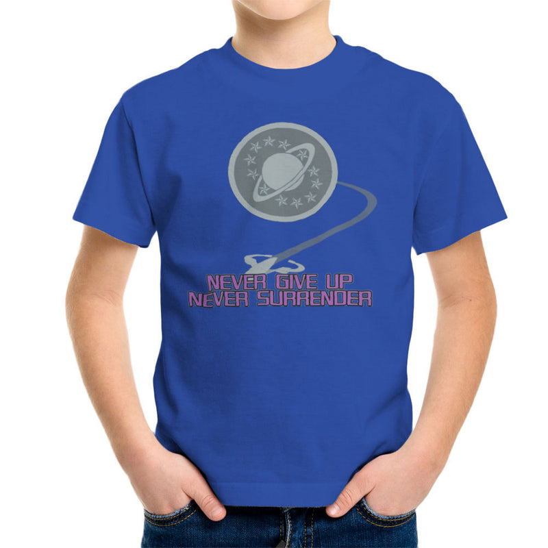 Galaxy Quest Never Give Up Never Surrender Kid's T-Shirt Kid's Boy's T-Shirt Cloud City 7 - 8