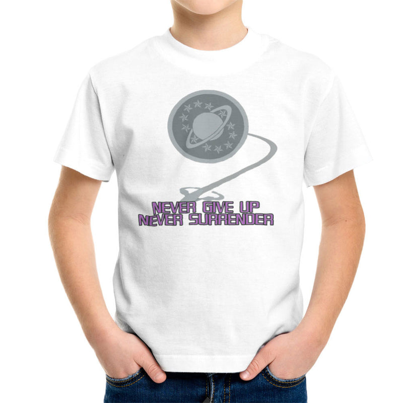 Galaxy Quest Never Give Up Never Surrender Kid's T-Shirt by Sillicus - Cloud City 7