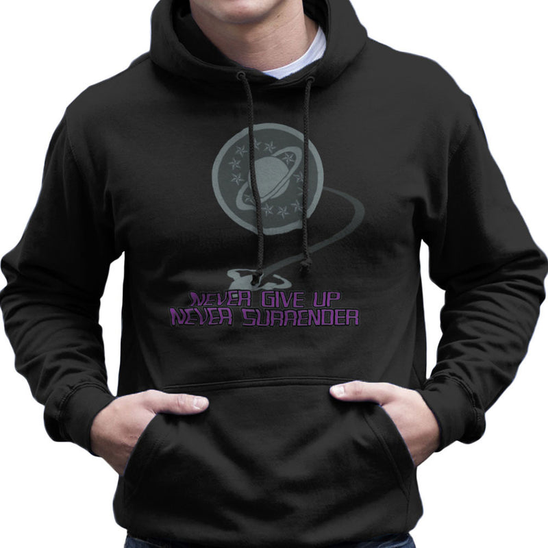 Galaxy Quest Never Give Up Never Surrender Men's Hooded Sweatshirt Men's Hooded Sweatshirt Cloud City 7 - 2