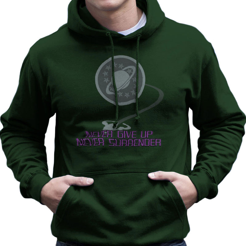 Galaxy Quest Never Give Up Never Surrender Men's Hooded Sweatshirt Men's Hooded Sweatshirt Cloud City 7 - 13