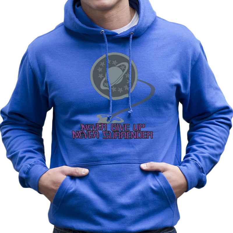 Galaxy Quest Never Give Up Never Surrender Men's Hooded Sweatshirt Men's Hooded Sweatshirt Cloud City 7 - 8