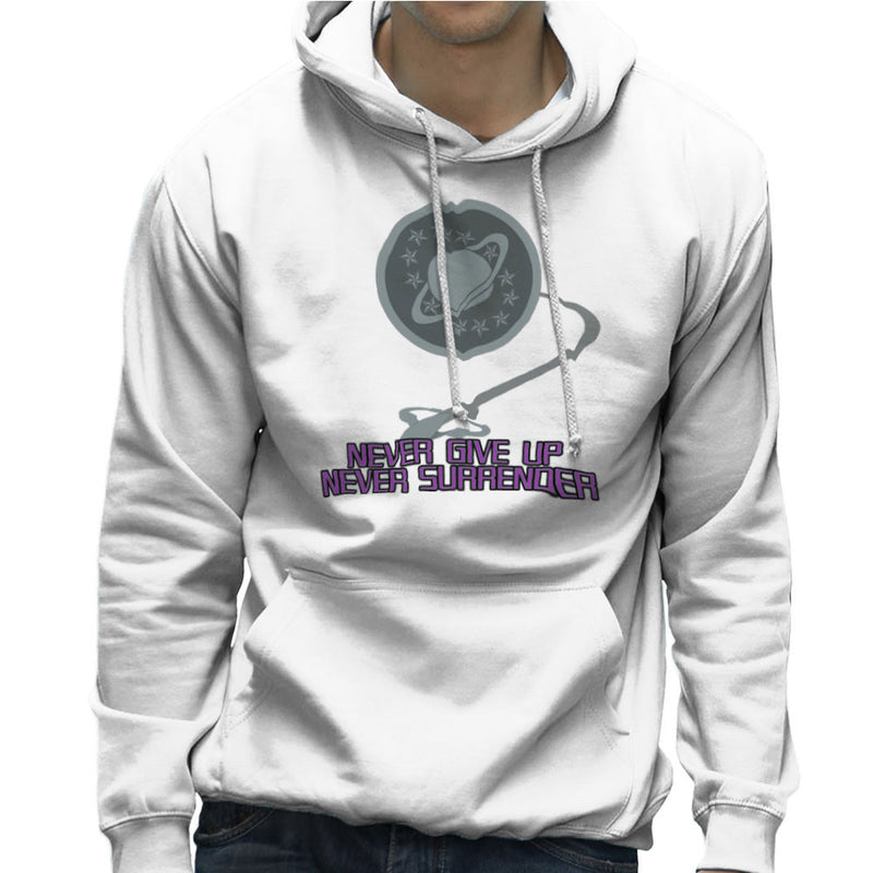 Galaxy Quest Never Give Up Never Surrender Men's Hooded Sweatshirt Men's Hooded Sweatshirt Cloud City 7 - 6