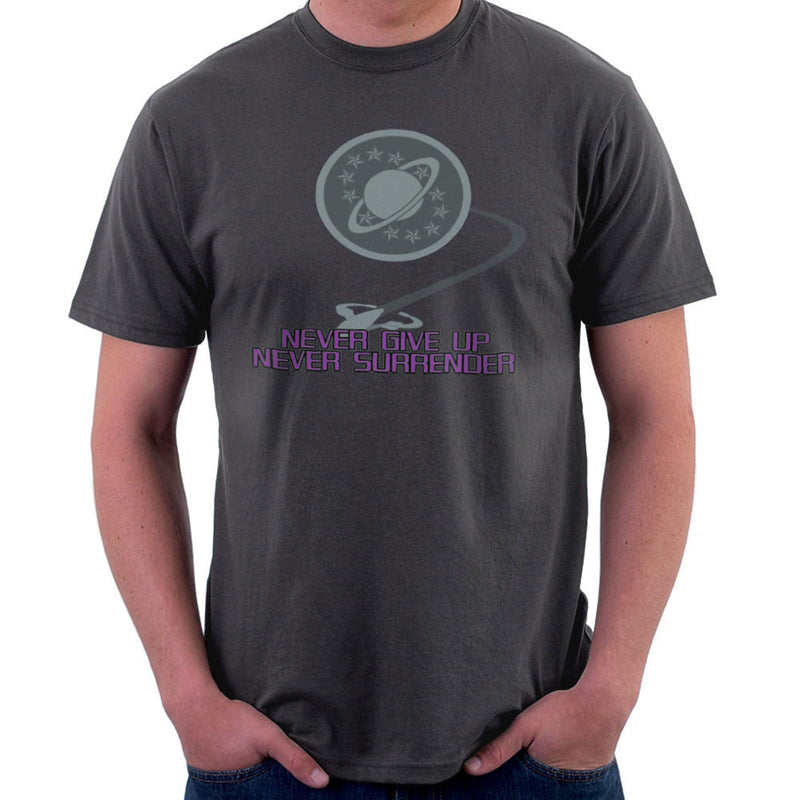 Galaxy Quest Never Give Up Never Surrender Men's T-Shirt by Sillicus - Cloud City 7