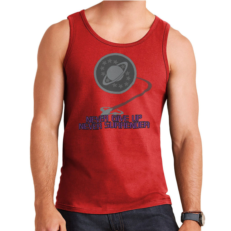 Galaxy Quest Never Give Up Never Surrender Men's Vest by Sillicus - Cloud City 7