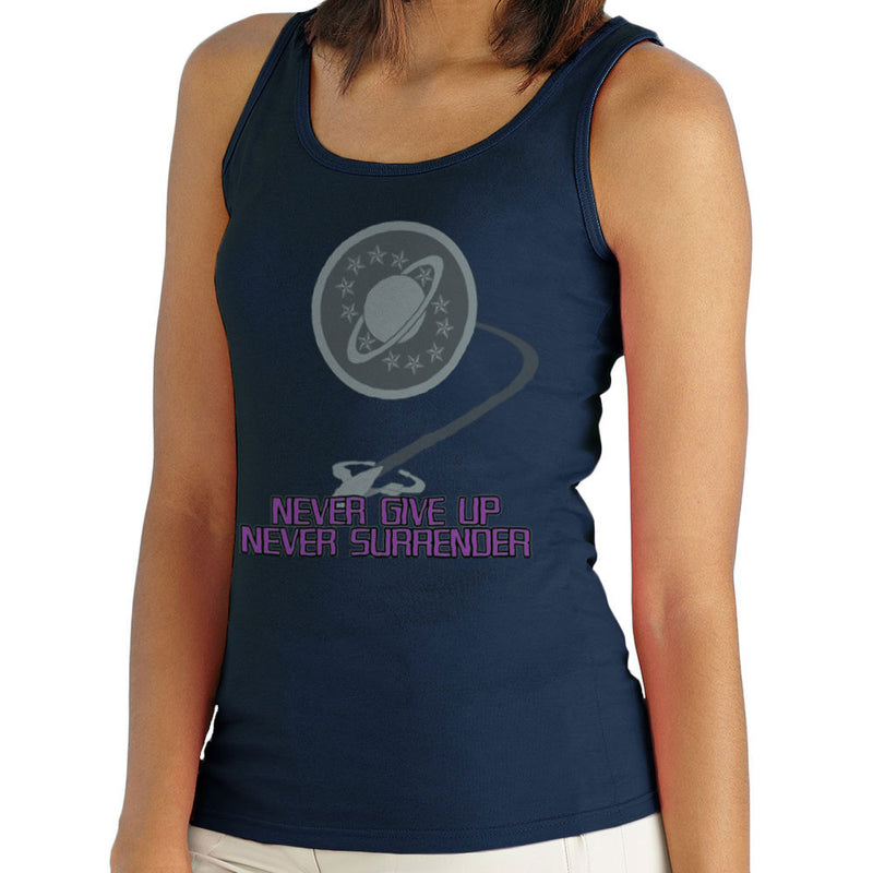 Galaxy Quest Never Give Up Never Surrender Women's Vest by Sillicus - Cloud City 7