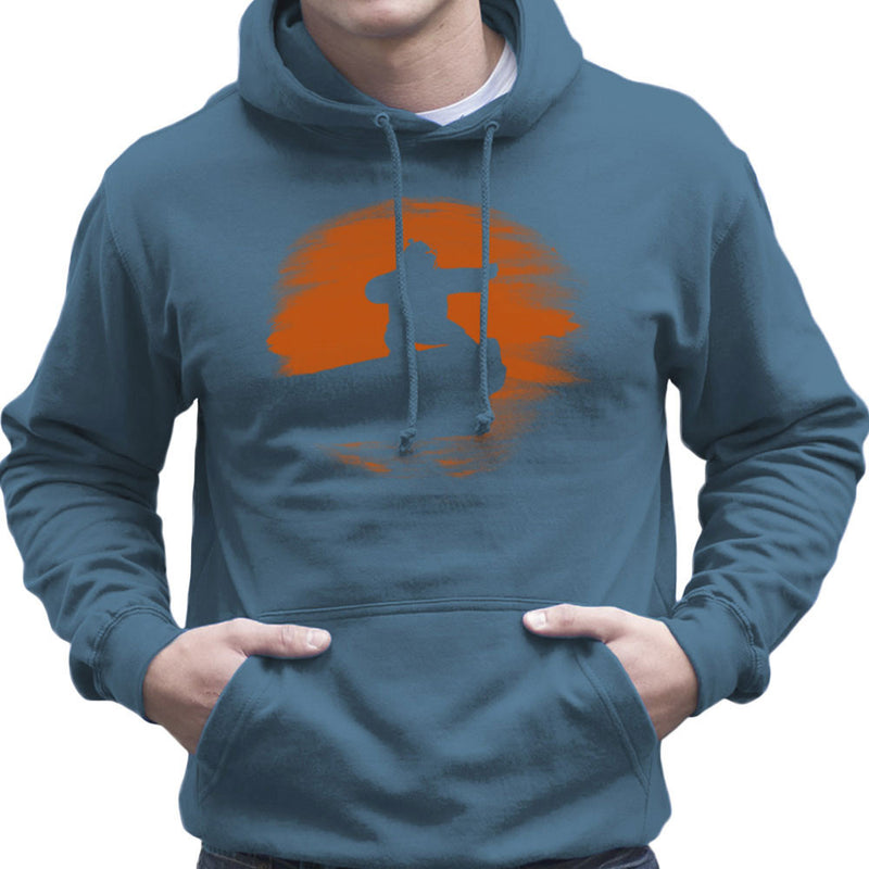 Kung Fu Panda Silhouette Sunset Men's Hooded Sweatshirt by Sillicus - Cloud City 7