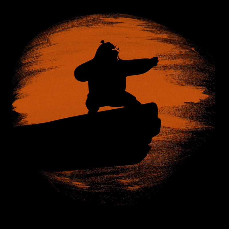 Kung Fu Panda Silhouette Sunset by Sillicus - Cloud City 7