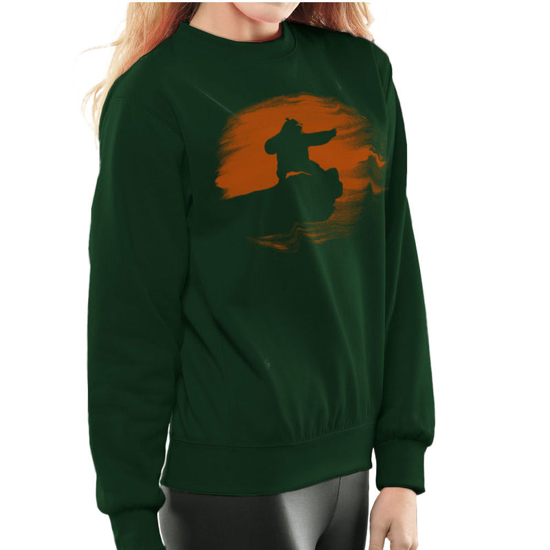 Kung Fu Panda Silhouette Sunset Women's Sweatshirt Women's Sweatshirt Cloud City 7 - 13