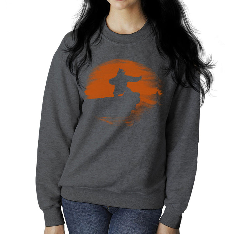 Kung Fu Panda Silhouette Sunset Women's Sweatshirt Women's Sweatshirt Cloud City 7 - 4
