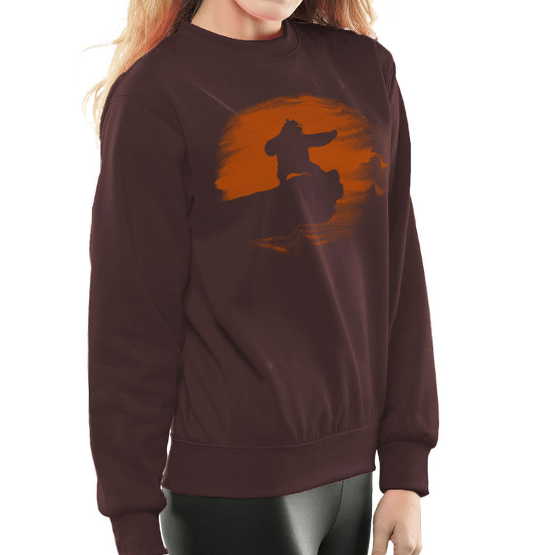 Kung Fu Panda Silhouette Sunset Women's Sweatshirt Women's Sweatshirt Cloud City 7 - 12