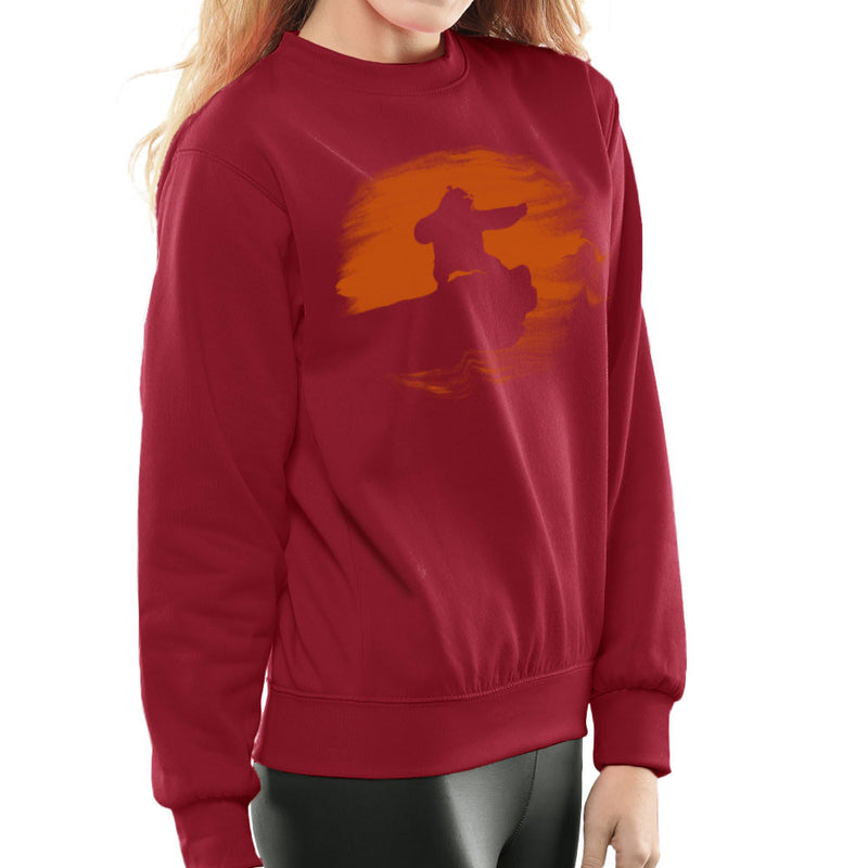 Kung Fu Panda Silhouette Sunset Women's Sweatshirt Women's Sweatshirt Cloud City 7 - 15