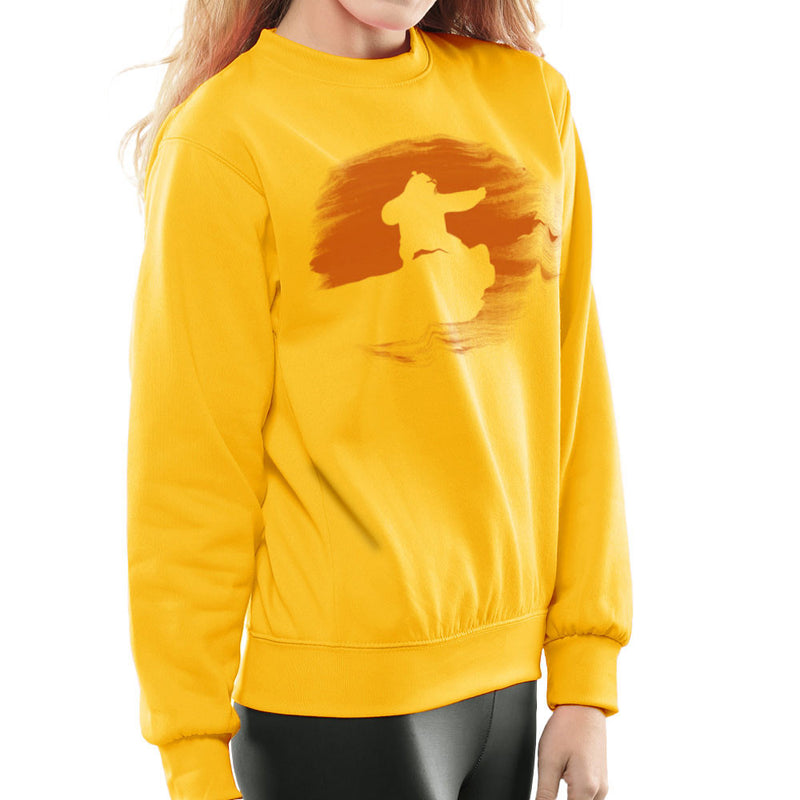 Kung Fu Panda Silhouette Sunset Women's Sweatshirt Women's Sweatshirt Cloud City 7 - 18
