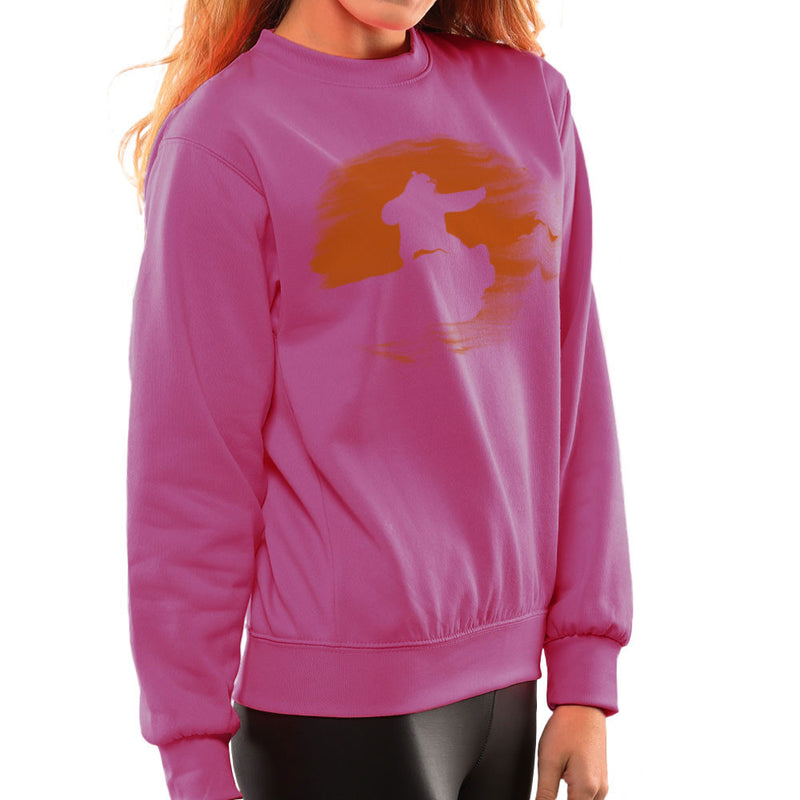 Kung Fu Panda Silhouette Sunset Women's Sweatshirt Women's Sweatshirt Cloud City 7 - 20