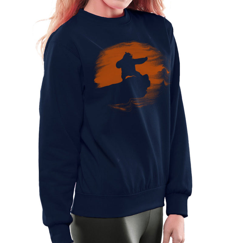 Kung Fu Panda Silhouette Sunset Women's Sweatshirt Women's Sweatshirt Cloud City 7 - 7