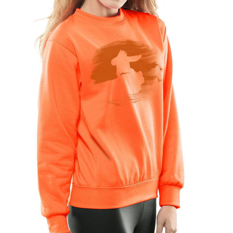 Kung Fu Panda Silhouette Sunset Women's Sweatshirt Women's Sweatshirt Cloud City 7 - 17