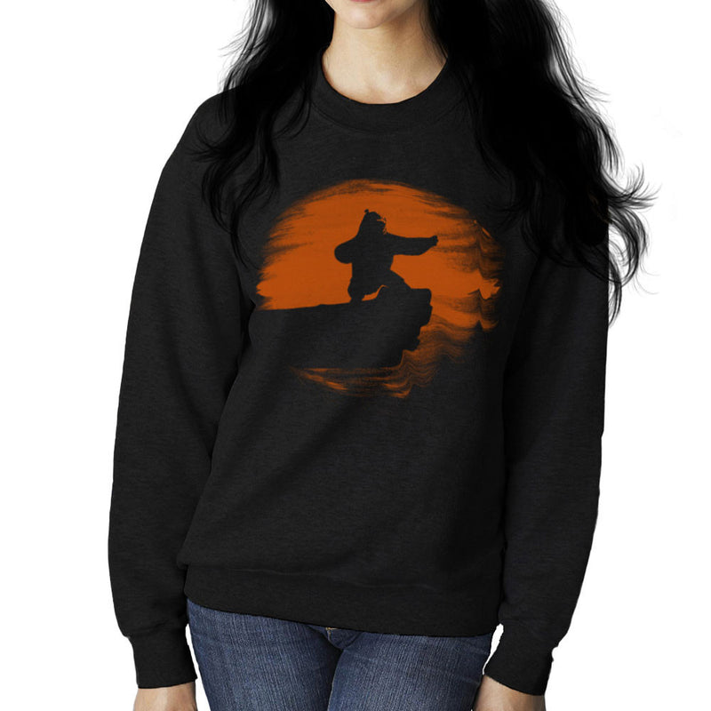 Kung Fu Panda Silhouette Sunset Women's Sweatshirt Women's Sweatshirt Cloud City 7 - 1